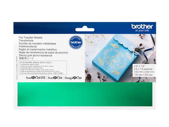 BROTHER SCAN N CUT FOIL TRANSFER SHEETS GREEN