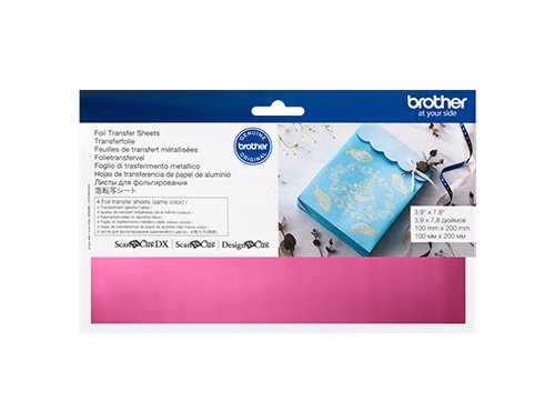 BROTHER SCAN N CUT FOIL TRANSFER SHEETS PINK