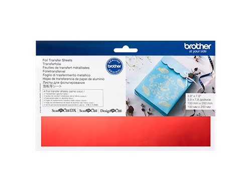 BROTHER SCAN N CUT FOIL TRANSFER SHEETS RED