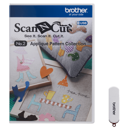 BROTHER SCAN N CUT APPLIQUE' PATTERN COLLECTION #2