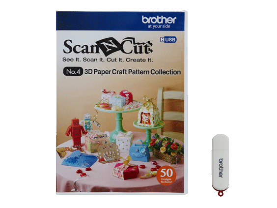 BROTHER SCAN N CUT 3D PAPER CRAFT COLLECTION #4