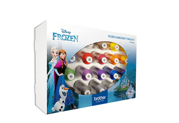 BROTHER FROZEN EMBROIDERY THREAD KIT 24 SPOOLS