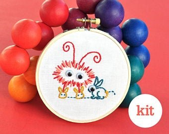 KISKATE - KIDS HAND EMBROIDERY KIT - MONSTER BUNNY