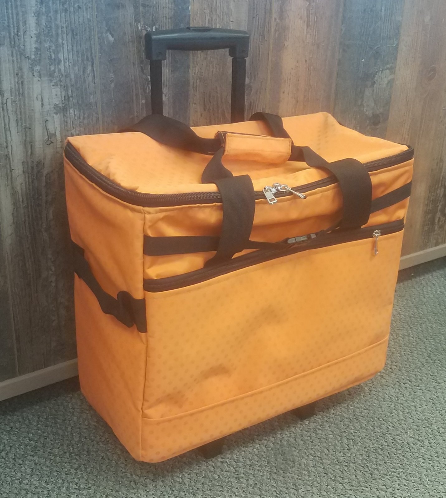 JANOME ORANGE TROLLEY BAG