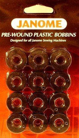 JANOME PW PLASTIC BOBBINS BLACK- 12