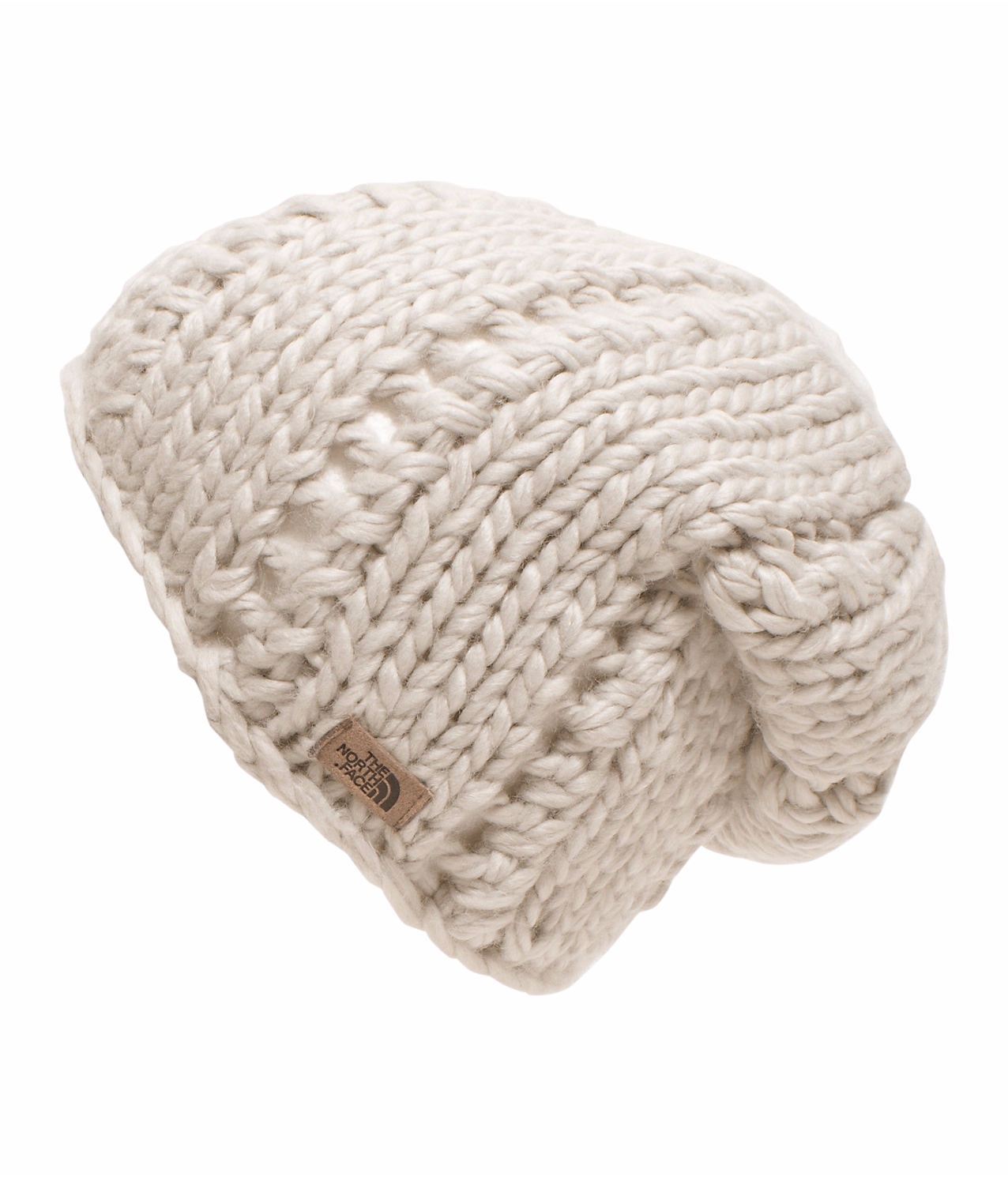 2016/17 TNF Chunky Knit Beanie VINTAGE WHITE