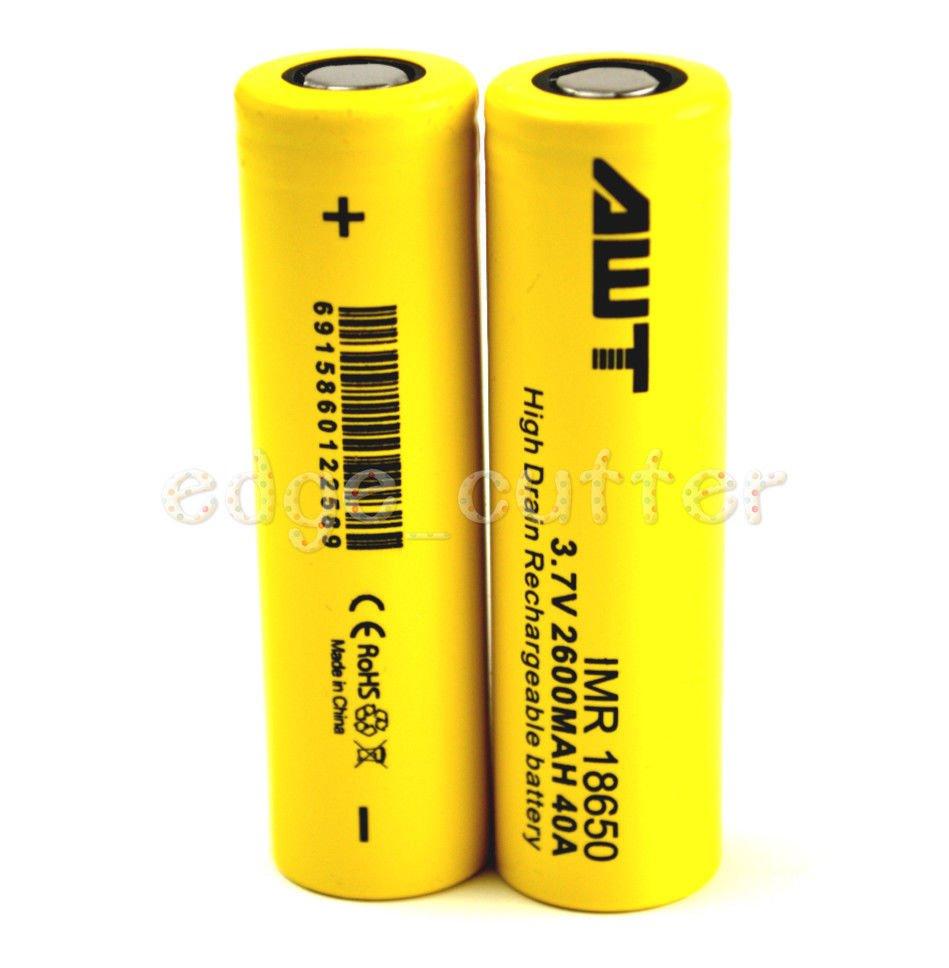 18650 35A-2500 MAH Battery Yellow
