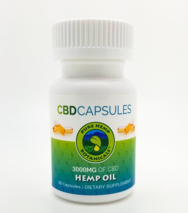 Pure Hemp CBD Capsules 3000mg 30ct