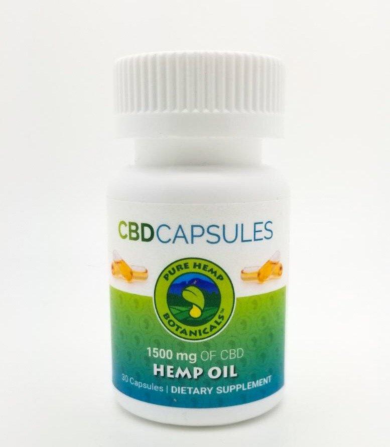 Pure Hemp CBD Capsules 1500mg 30ct