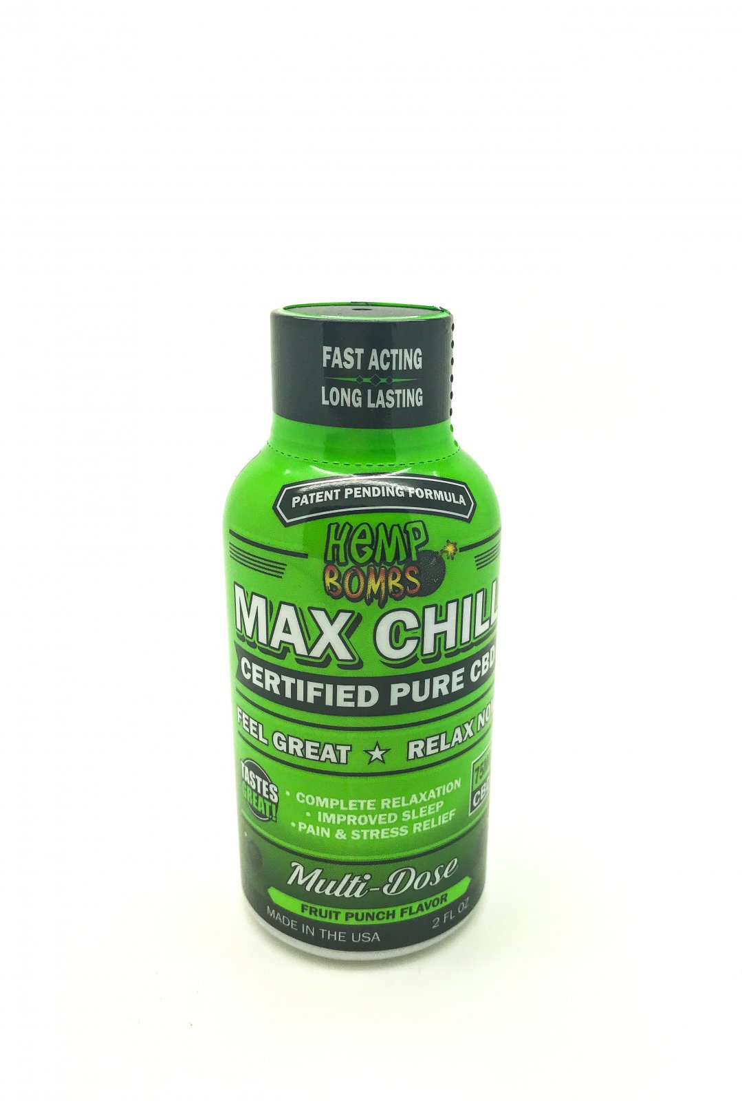 Hemp Bomb CBD Max Chill Shots 2oz