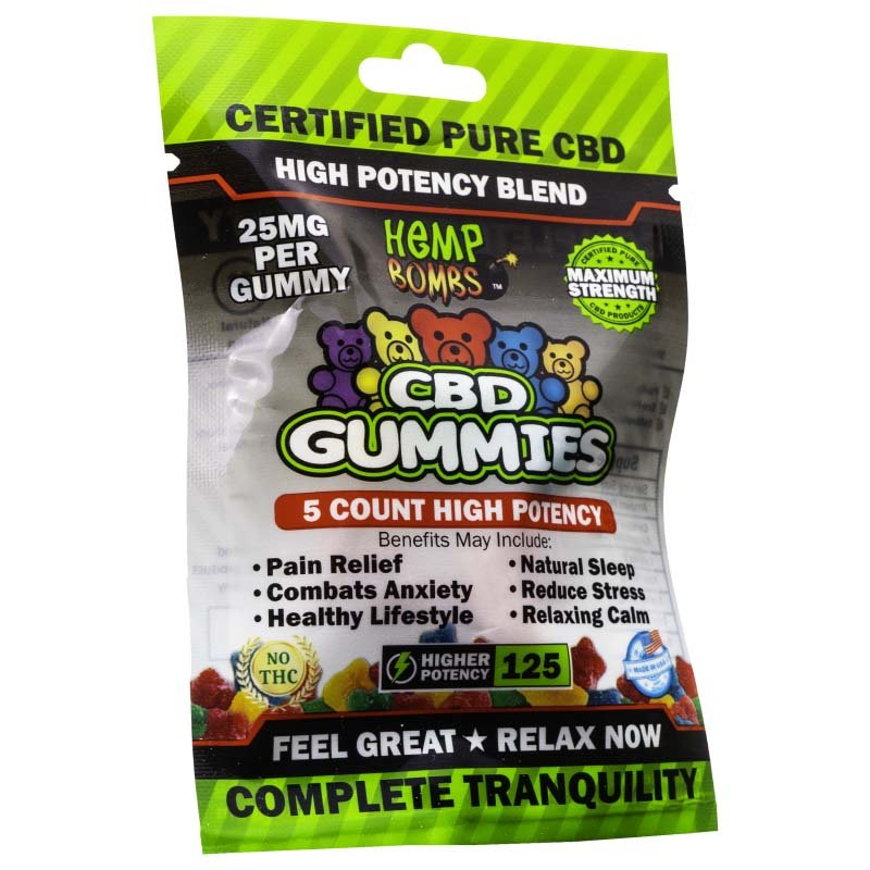 Hemp Bomb CBD Gummies  5pk 125mg