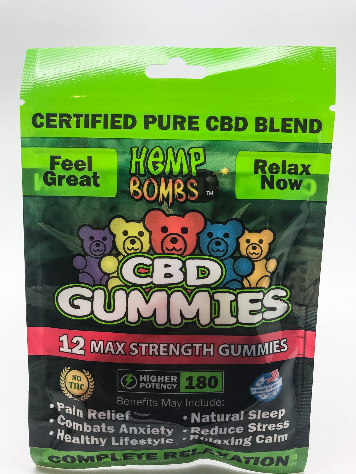 Hemp Bomb CBD Gummies 12ct 180mg