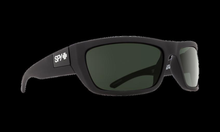 Spy Dega Matte Black ANSI Rx Happy Gray Green
