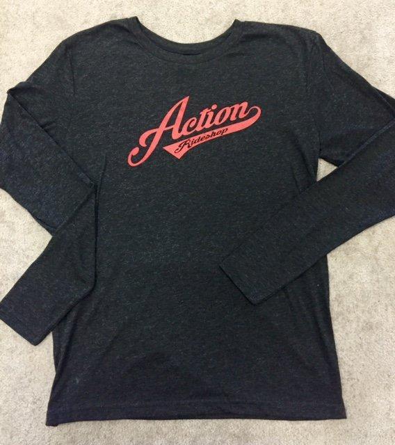 Action Baseball Logo LS - VINTAGE BLACK