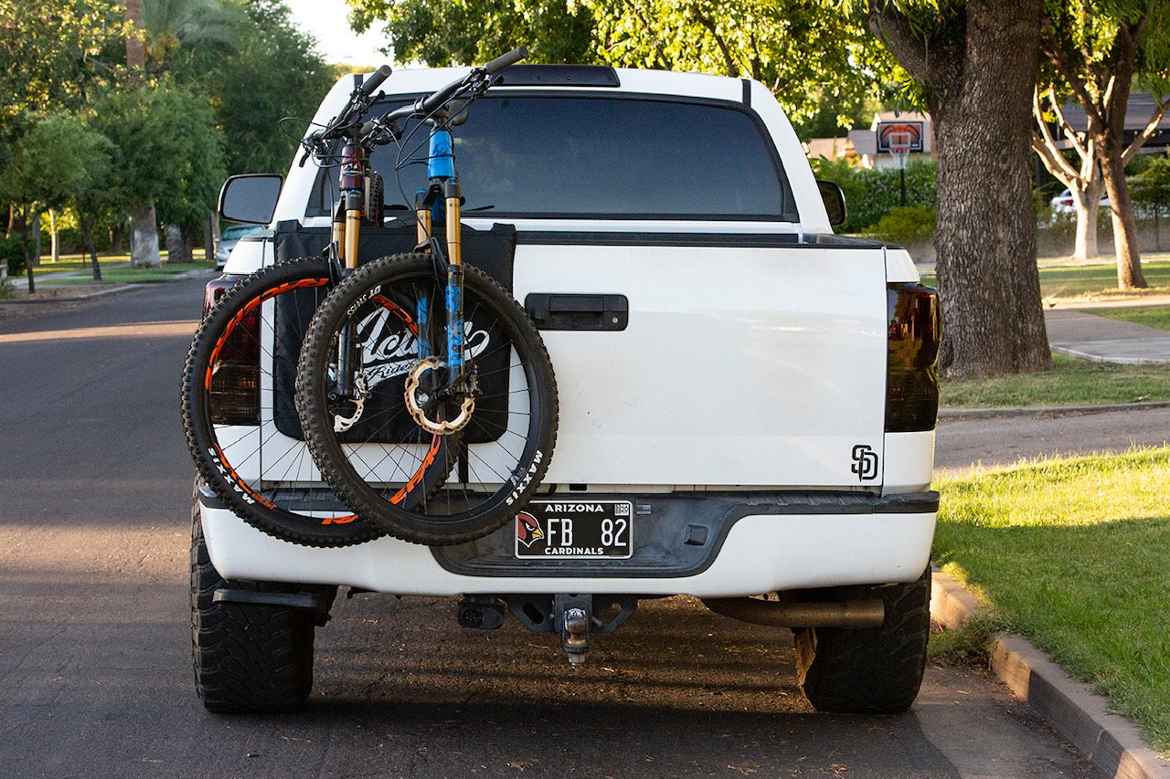 Action Rideshop double bike tailgate pad
