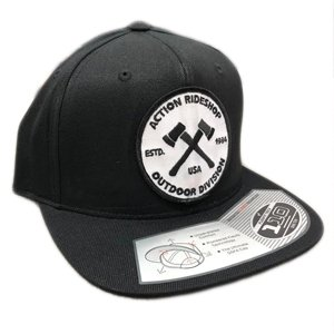 Action Axes Black Snapback