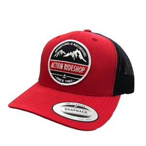 Action Adventures & Excursions Red w/ Black Mesh Snapback