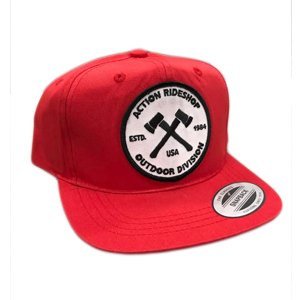 Action Youth Axes Red Snapback