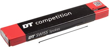 DT Swiss Competition Spoke: 2.0/1.8/2.0mm, 291mm, J-bend, Black, Box of 100