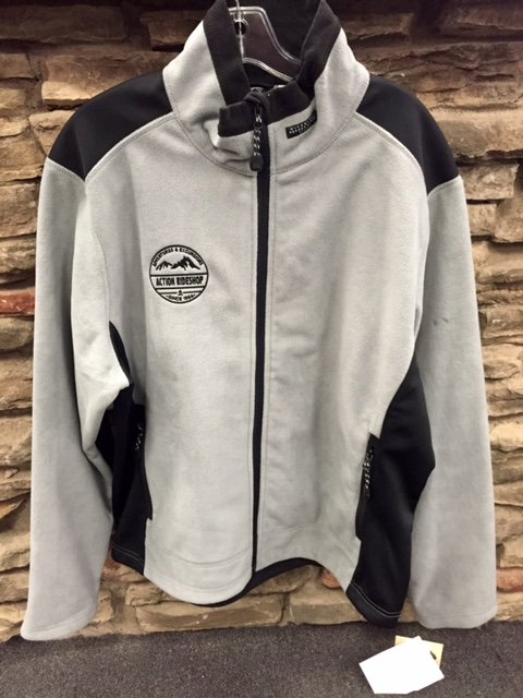 WIND BLOCK FLEECE GREY ARS EMBROIDERED LOGO