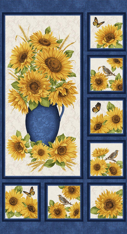 Sunflower Panel, Blue