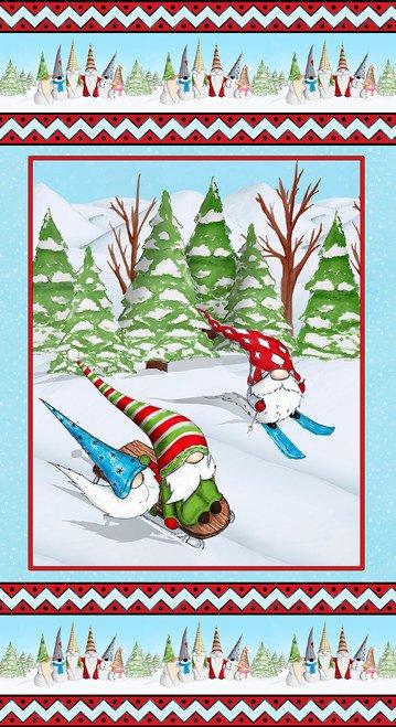 Gnomes Skiing Panel