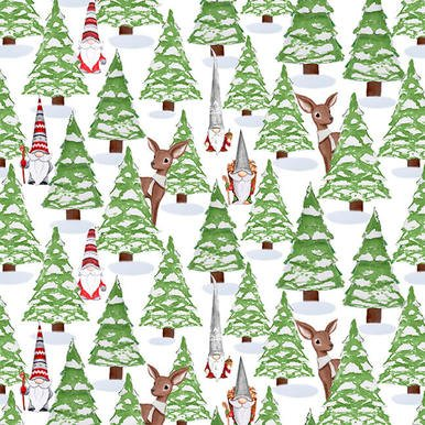 Gnomes White Trees