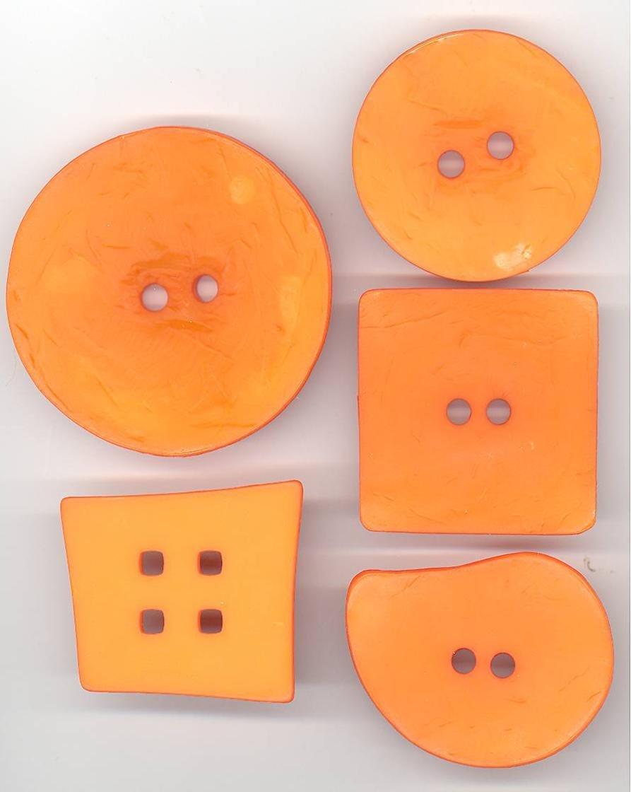 Orange Textures Paisley