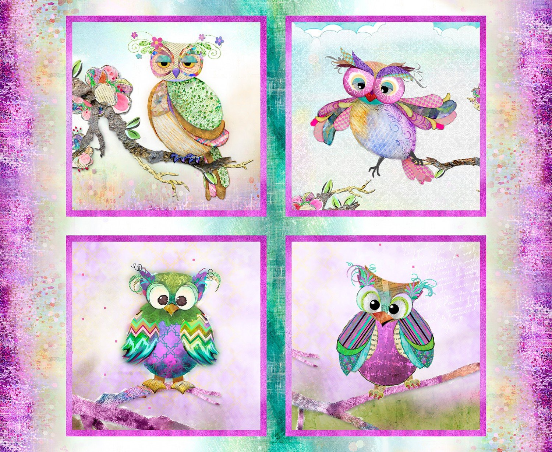 Boho Owls Panel