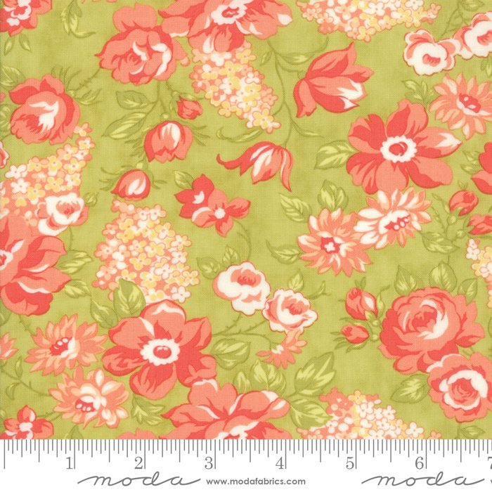 Floral Blooms, Light Green