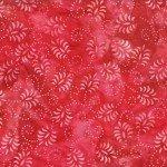 Rouge Red Dancing Leaves Batik