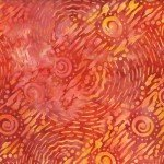 Orange/red Dynamic Circles Batik