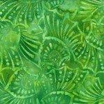 Green Floral Shells Batik