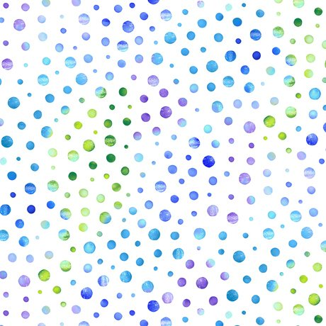 Watercolor White Dot