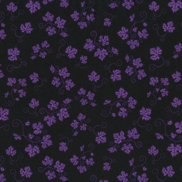 Over a Barrel, Purple Leaves on Black