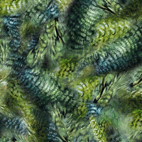 Hummingbird Feathers, Green