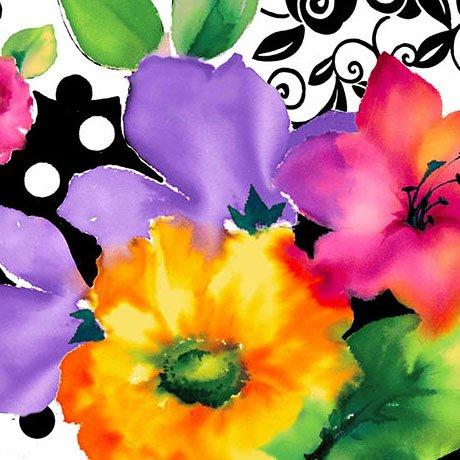 Brooke, Lg. Multi Floral
