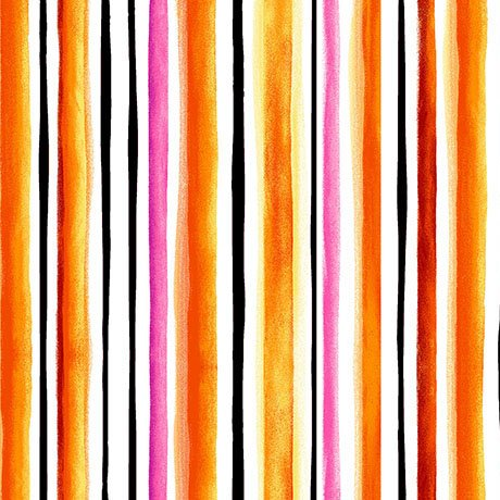 Brooke, Watercolor Stripe, Orange