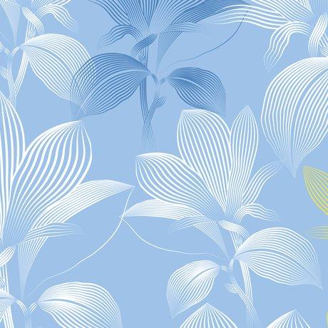 Delancey, Linear Floral Lt. Blue
