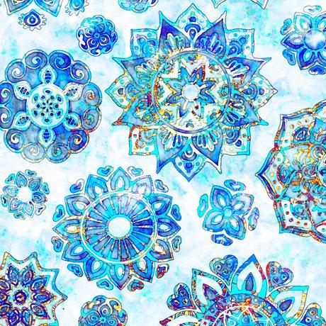 Kashmir, Mandalas, Blue