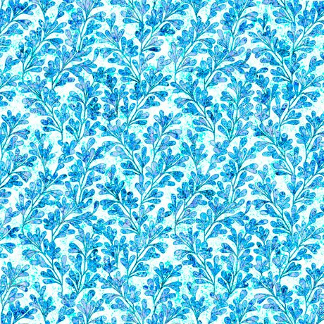 Kashmir, Leaves, Blue