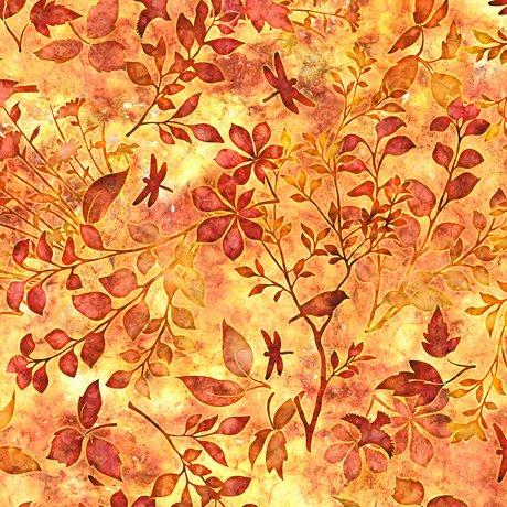 Flora Luna, Floral Spray, Burnt Orange