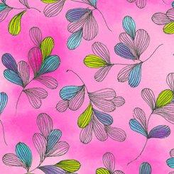 Serafina, Tossed Leaves, Pink