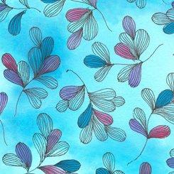 Serafina, Tossed Leaves, Turquoise
