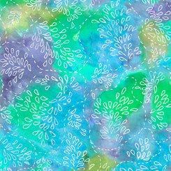 Serafina, Watercolor Stitch, Turquoise