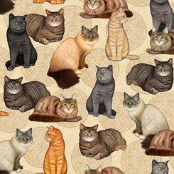 Cat & Medallion, QT Fabrics