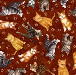 Kitten Toss, QT Fabrics