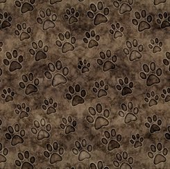 Brown Paws, QT Fabrics