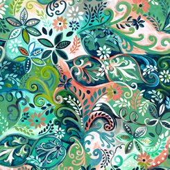 Enchanted Garden All Over, QT Fabrics