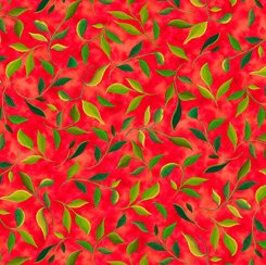 Leaf Sprig, Red, Wild Beauty